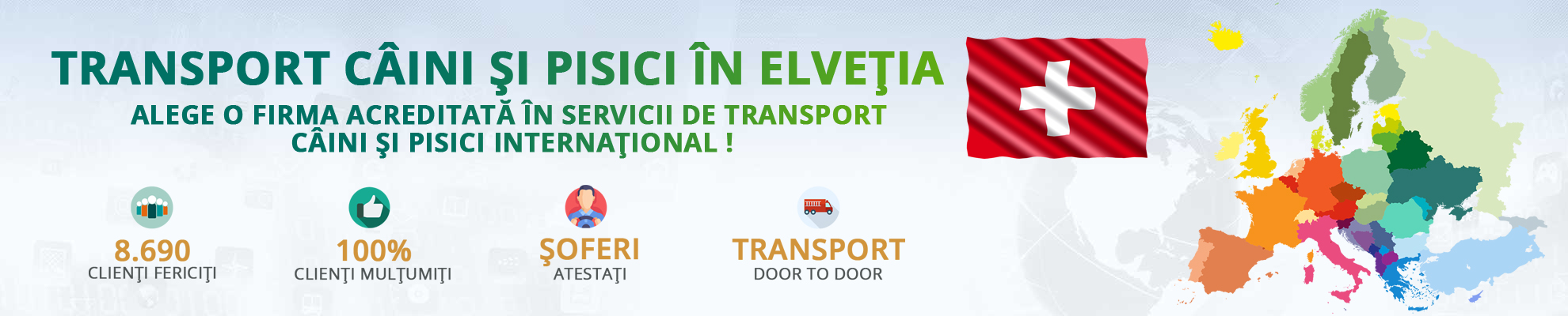Transport caini si pisici in Elvetia