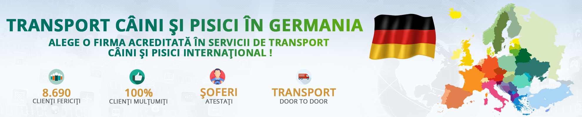 Transport caini si pisici in Germania